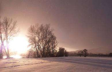 winter sundown I by Ebenholz