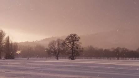 winter sundown II by Ebenholz