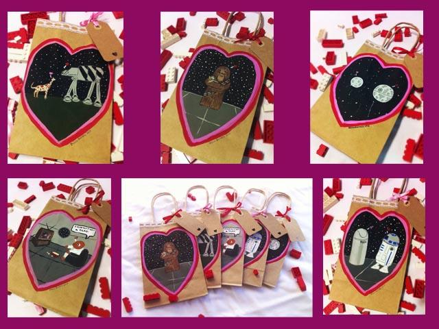 Star Wars Valentine Gift Bags By Geekyartistgirl ...