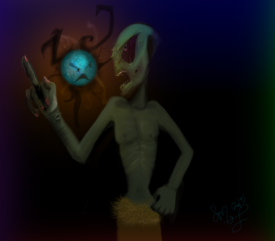 Pissed Alien by BluestBlue