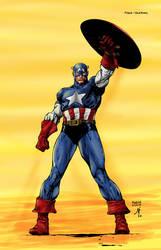 Captain America David Finch by LuisFuentes