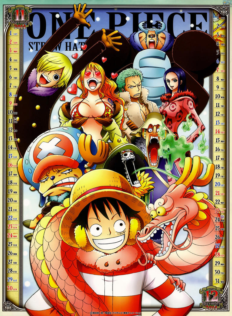 Calendar Art Piece : One piece official calendar nov dec by candydfighter