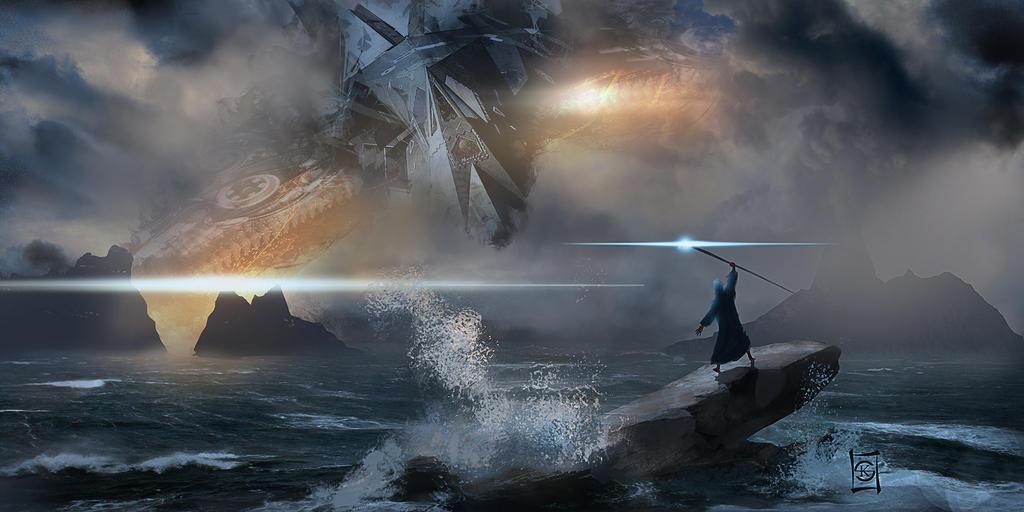 Old Man in the Sea by JacksDad