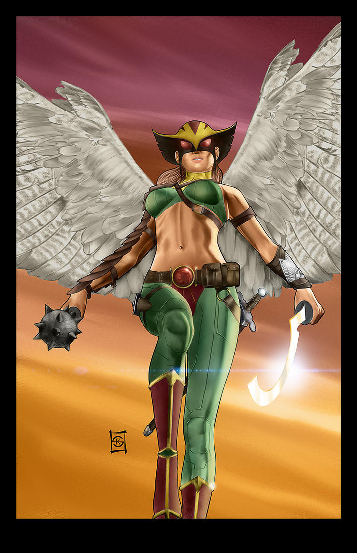 Hawkgirl Colored by JacksDad
