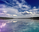 the sky over Lake
