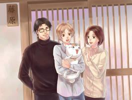 Natsume And Fujiwara Family by Lul-lulla