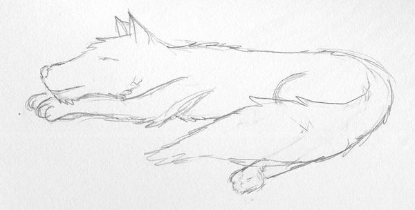 Sleepin woof by Jarndahusky