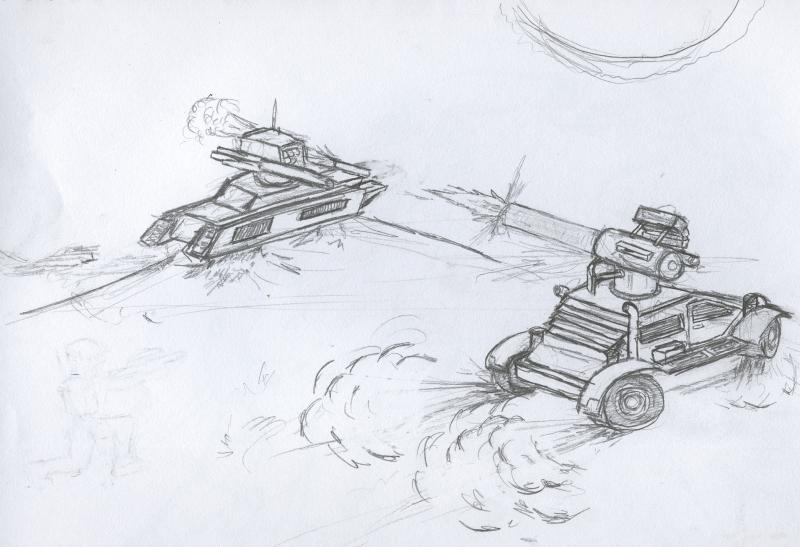 Desert War by Jarndahusky
