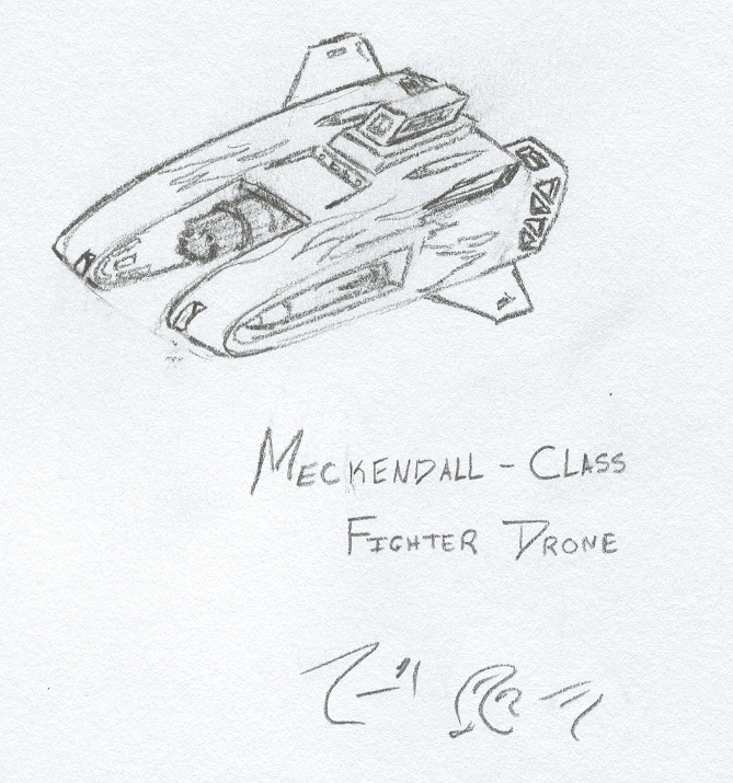 Meckendall Fighter Drone by Jarndahusky