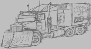 Armoured Truck by Jarndahusky