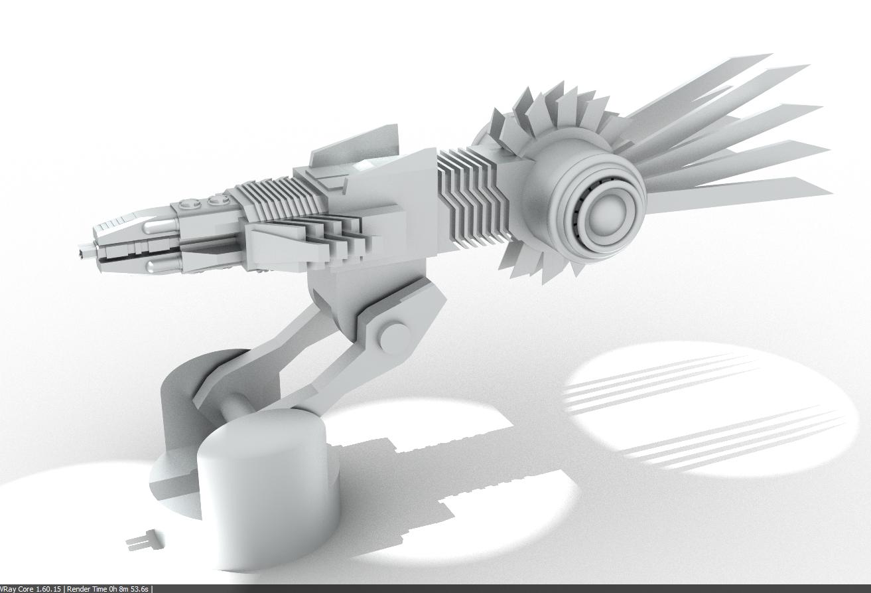 Dragon Plasma Accelerator Cannon by Jarndahusky