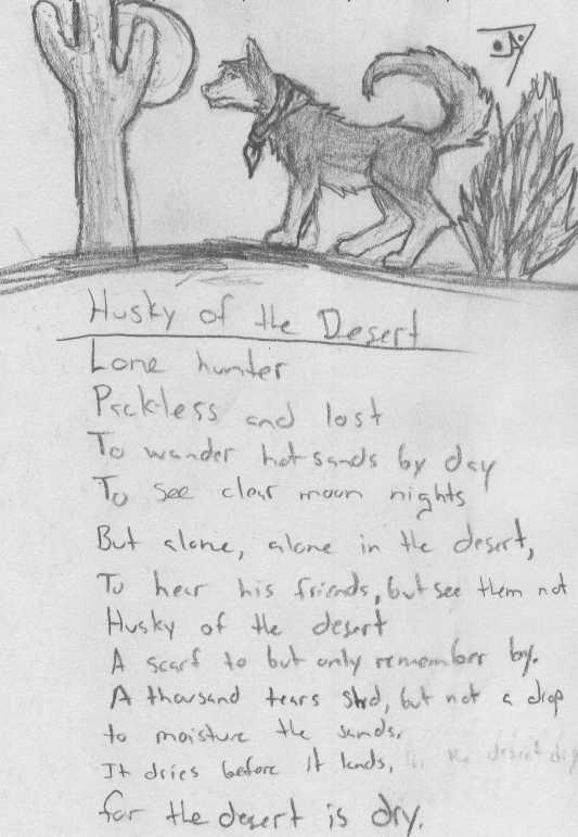 Husky of the Desert by Jarndahusky