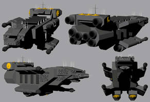 American Missile Ship by Jarndahusky
