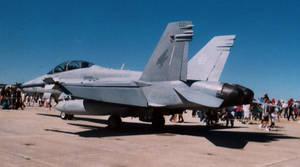F/A-18 Side Rear by Jarndahusky