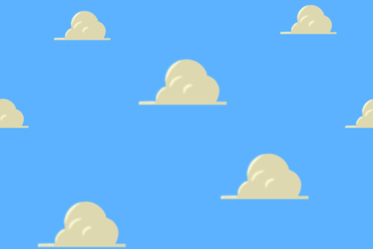 Toy Story Clouds Template