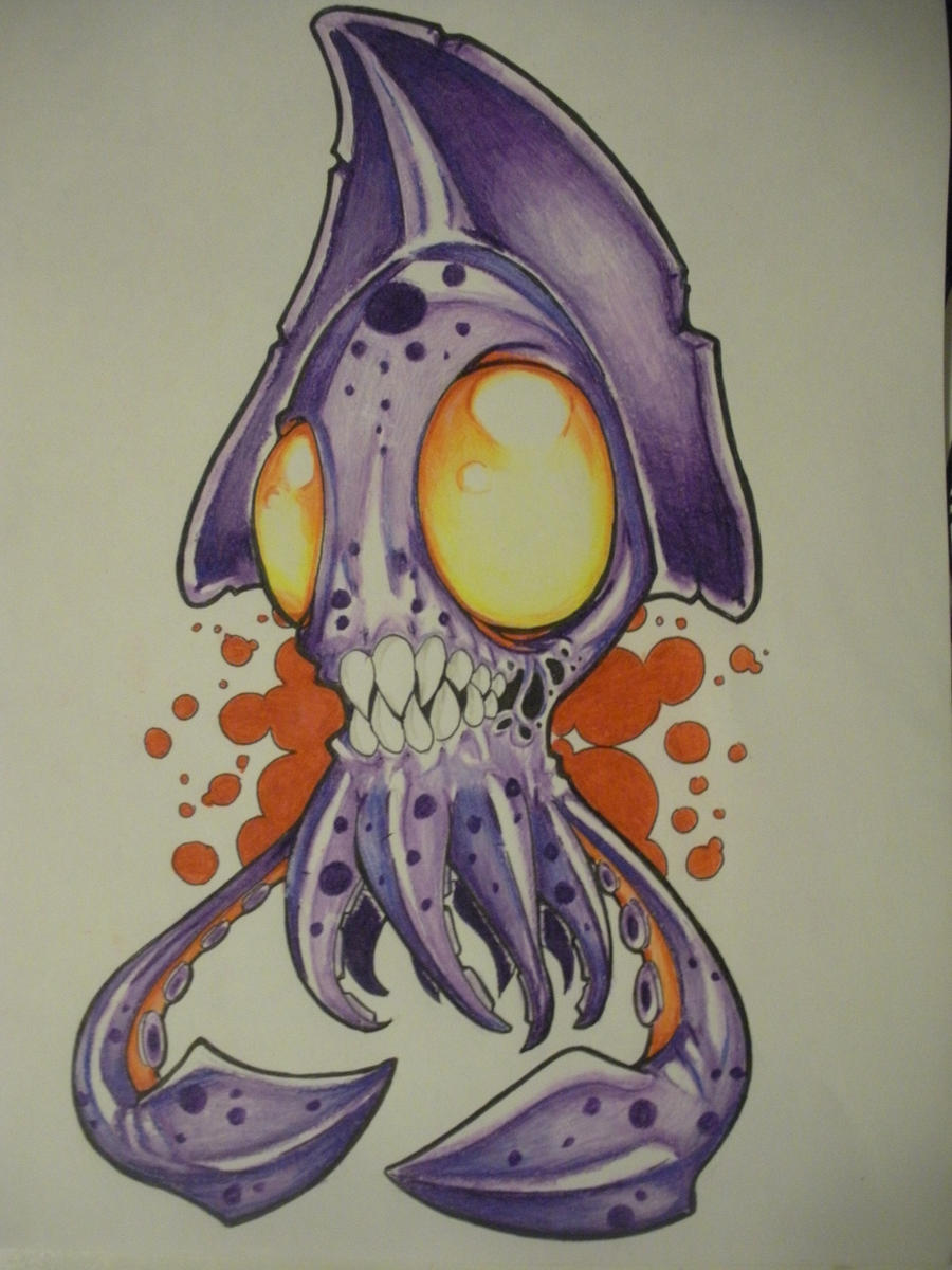zombie squid by The-Ozzman on DeviantArt