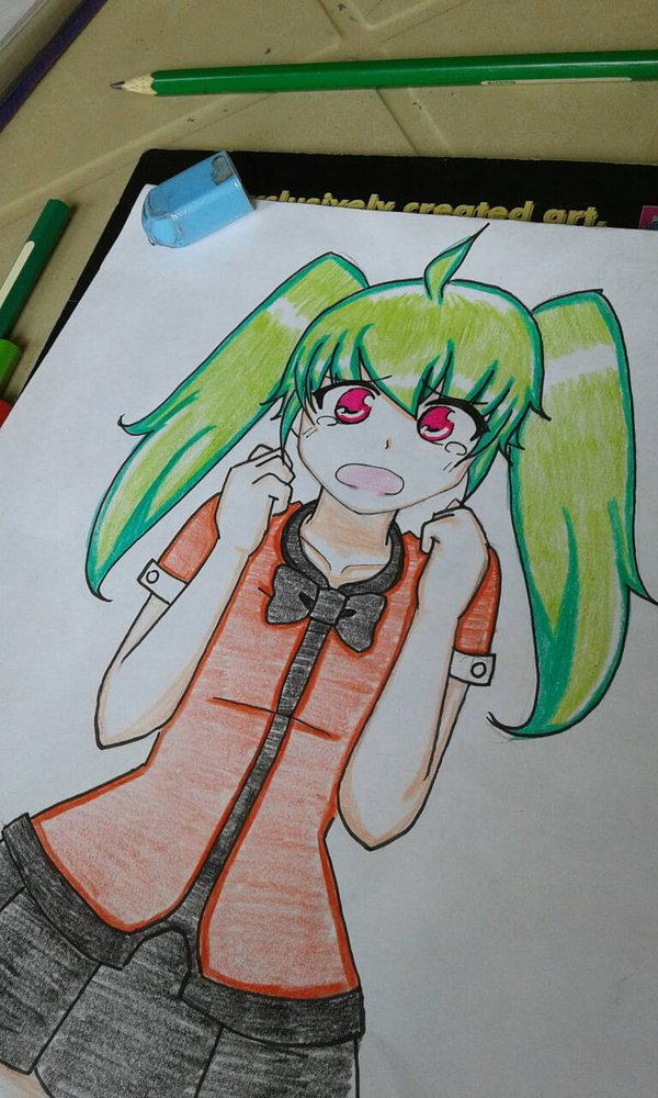Random Green Haired Girl XD by MikaValentine26