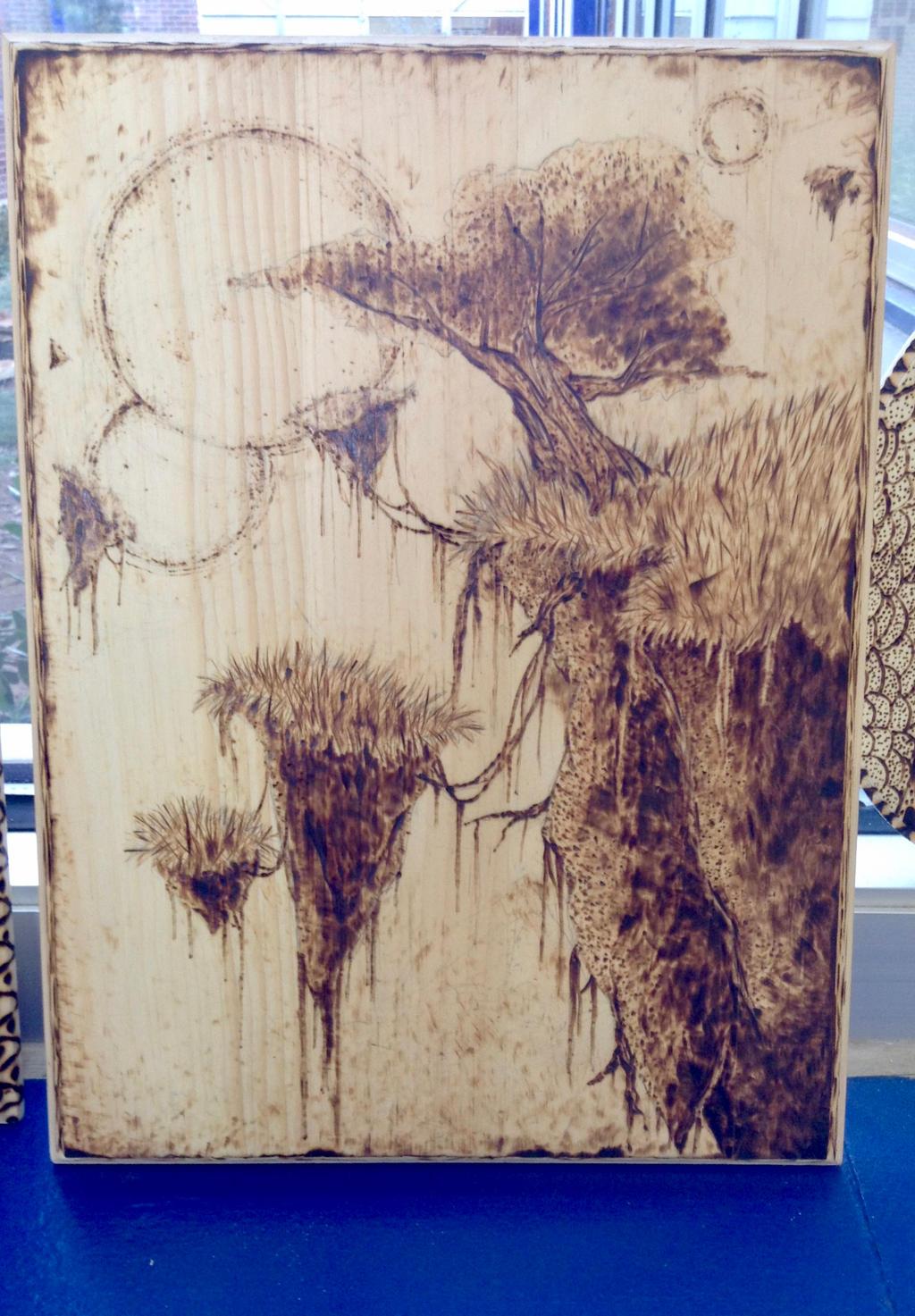 Floating Island Wood Burning by Alicia-Imagination