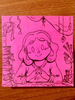 PinkStickyNote! My Lovely Desk