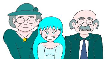 Aqua's Grandparents by AaronBrawnstone