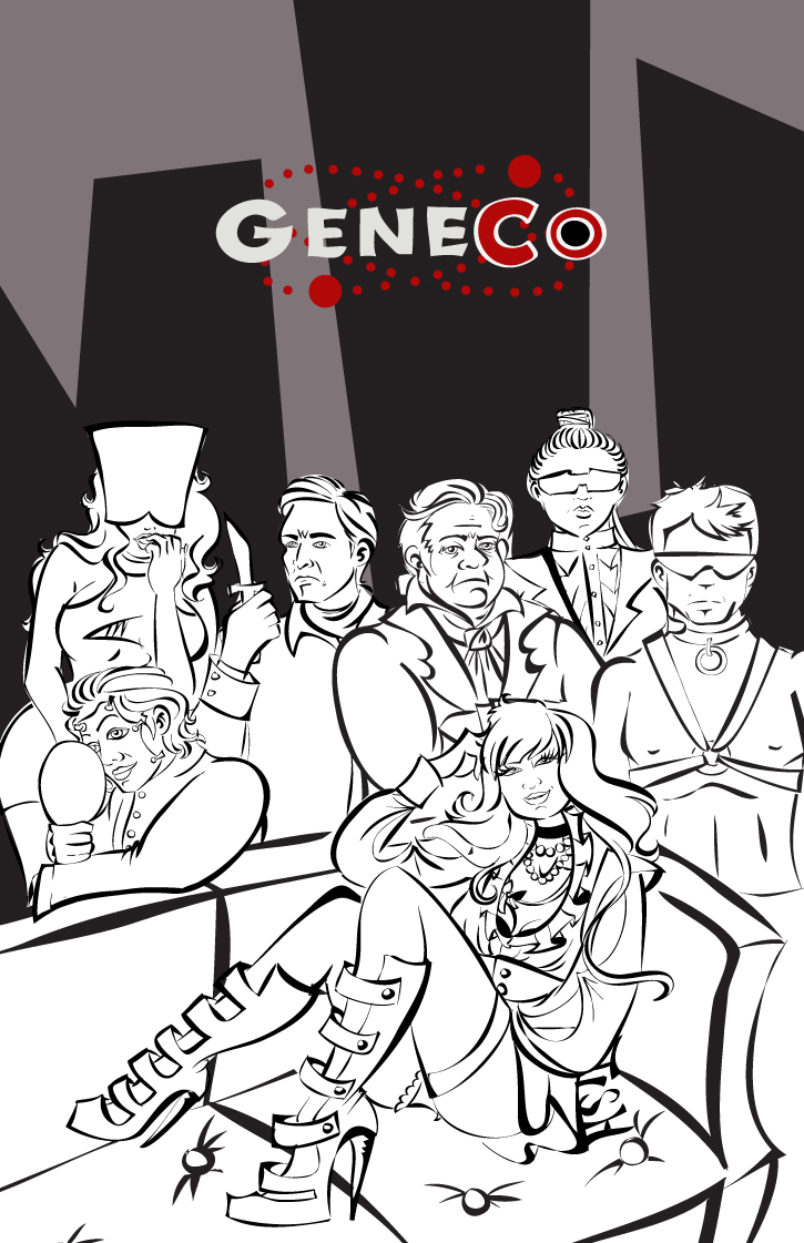 GeneCo Lineart by labrattish