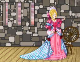 1690s Sleeping Beauty by labrattish
