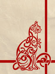 Celtic Knot Inspired Cat