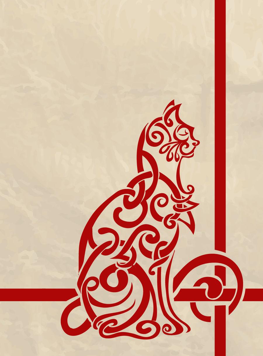 Celtic Knot Inspired Cat