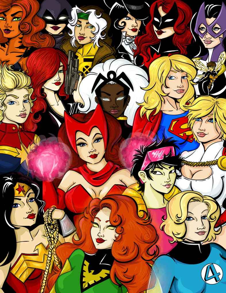 Comic Women by labrattish