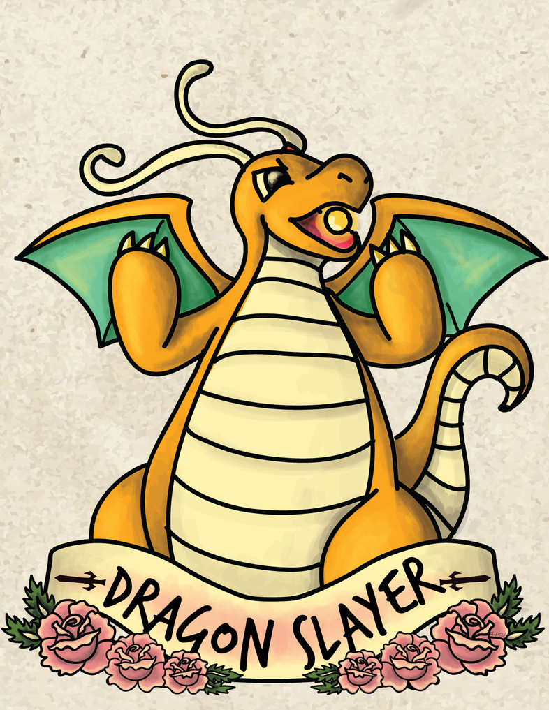 Dragonite-Dragon Slayer by labrattish