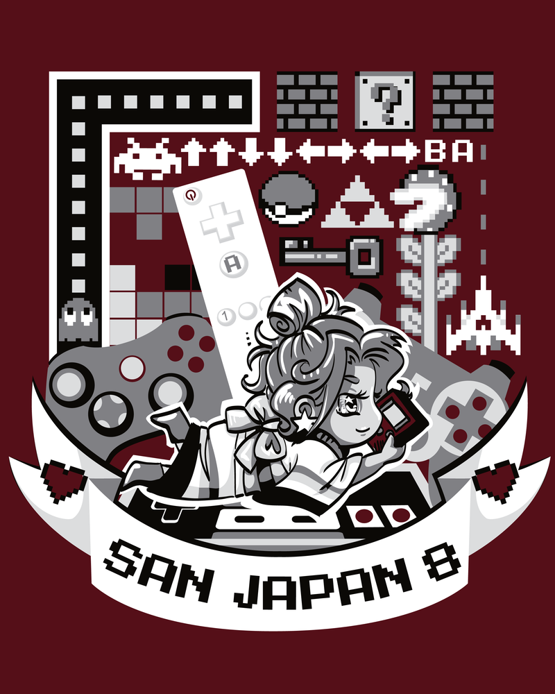 SJ 8 Tee Design: 8Bit Adventures by labrattish
