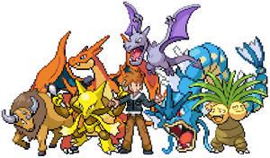 Gary Oak Team (Pokemon Lets Go)