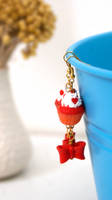 Red Velvet Cupcake Earrings