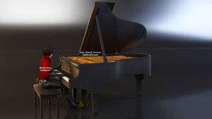 Ada Wong Piano Render