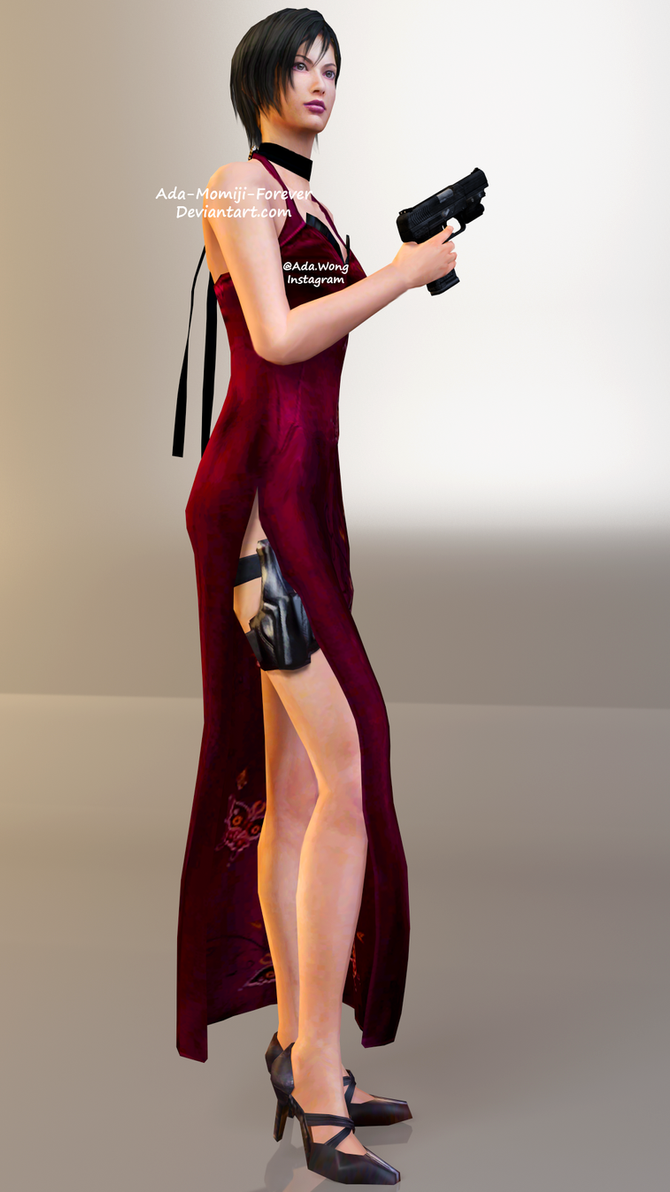 Ada Wong RE4 Dress Render by Kunoichi-Supai