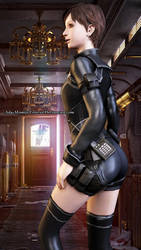 Rebecca Chambers in Team Wesker Battlesuit Render by Kunoichi-Supai