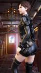 Rebecca Chambers in Team Wesker Battlesuit Render