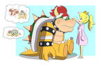 Bowser visits Dr. Peach by FenrirSeven