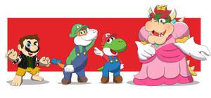 (Commission) Super Mario Alternate Universe