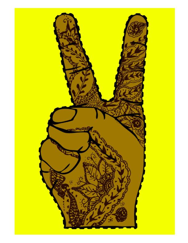 Peace Sign Henna Hand Tshirt By Dot23 On Deviantart