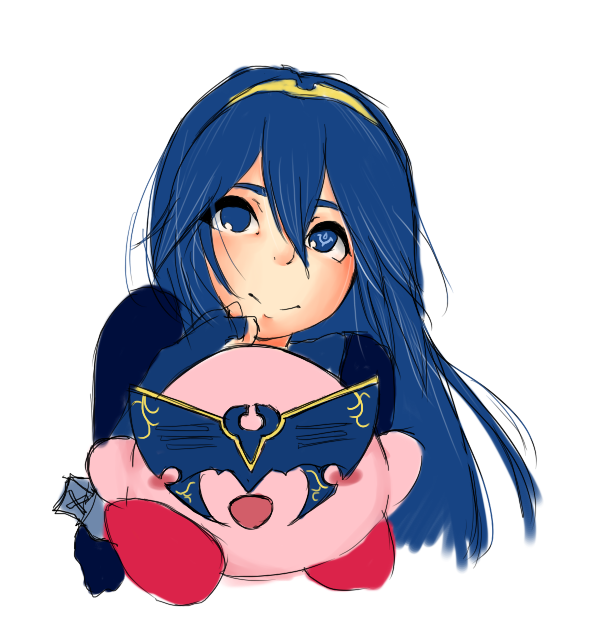 Lucina and Kirby by AssortedA on DeviantArt