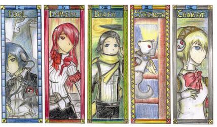 Persona3 - Coloured Arcanas by bahamutneo