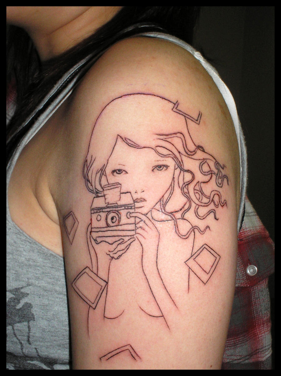 Photograph Girl Tattoo by
