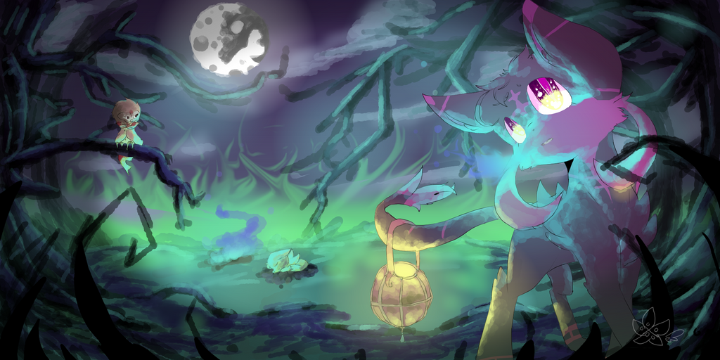(Halloween Special!)I Hear Something+Speedpaint by DespairGriffin