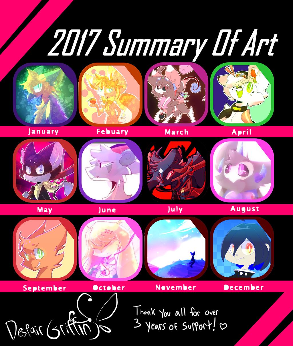 2017 Art Summary by DespairGriffin