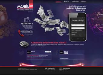 Mobil.im web design by feartox