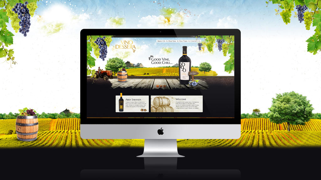Wine web design by feartox