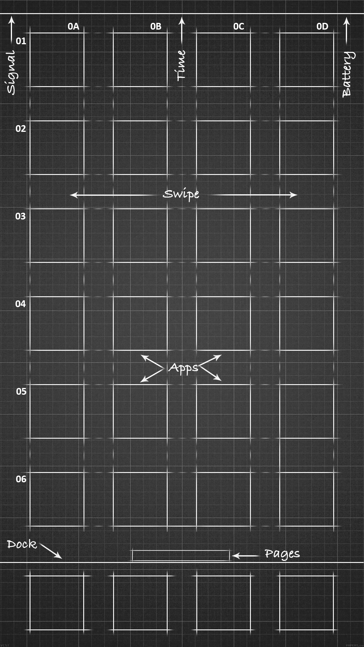 Blueprint Wallpaper For IPhone 6 Plus Black By Iamj3ra