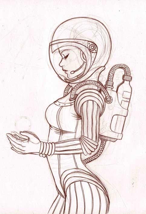 Space Girl By Elizabethhunt On Deviantart