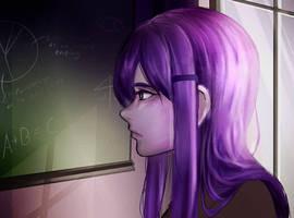 Yuri - DDLC by Derynee